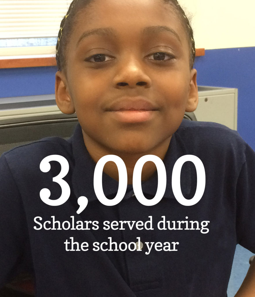 3,000 scholars served during the school year